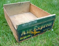Antique Air Express Wood Crate in Naperville, Illinois