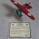 Spec Cast 1932 Lockheed Vega 5C Special from Conoco Aviation Airplane coin bank in Yorkville, Illinois