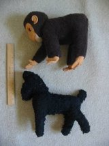 Vintage 1950s two Straw-Stuffed Stuffed Animals Monkey Poodle in Colorado Springs, Colorado