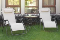 New! Cream Pair Zero Gravity Outdoor Patio Chairs DELIVERY AVAILABLE in Camp Pendleton, California