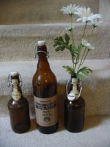 Three German Beer AMBER GLASS BALE WIRE Bottles from 1980's in Colorado Springs, Colorado