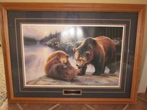 Daniel Renn Pierce Framed Art Bear Cub Battle in Algonquin, Illinois