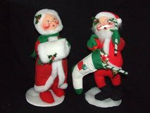"""Annalee Santa and Mrs. Claus 17"""" in Chicago, Illinois"""