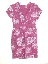 Womens Small  Bold Spirit Pink Floral Hooded Casual Sweatshirt Dress V Neck in Morris, Illinois