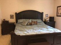 $Reduced$California or King size black espresso bedroom suite - 8 piece complet in Kingwood, Texas
