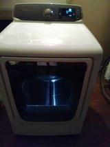 Don't miss this Samsung steam smartcare dryer with smoke glass door! in Fort Benning, Georgia