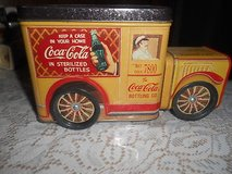 VintageTin  COCA-COLA DELIVERY TRUCK!   Made into a Coin Bank.  Unusual! in Kingwood, Texas