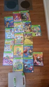 Children's Leap Frog Tag Reader Set with Book Library! in Quantico, Virginia