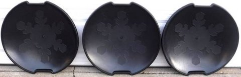 """(3) 25""""Round Black Plastic Saucer Snow Sleds in Orland Park, Illinois"""