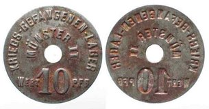 Rare 1914-1918 Münster (Westfalen) Germany Munster II POW camp WWI 10 Pfennig in Fairfax, Virginia