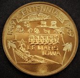 Centennial coin, Le Mars, IA 1869-1969 brass 50 cent token in Fairfax, Virginia