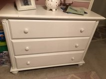 White dresser or changing table in Kingwood, Texas