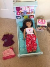 authentic american girl look like you doll 2015 18 inches bed chest & accessories in Kingwood, Texas