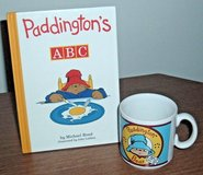Vintage 90s Padding Bear Hard Cover A B C Book and Mug Lot Set Ceramic Cup in Yorkville, Illinois