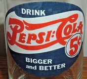 Vintage Drink Pepsi Cola Bigger and Better Collector Drinking Glass w 1906 Logo in Yorkville, Illinois