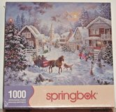 NEW Springbok Night Before Christmas 1000 Piece Jigsaw Puzzle Horse Carriage in Chicago, Illinois