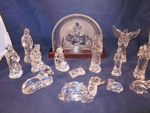 WATERFORD CRYSTAL Compete Nativity Set with Bethlehem Backdrop ~ EXC in Aurora, Illinois