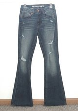 Womens 4 Bethany Mota High Waist Distressed Flare Denim Jeans Womens 4 x 33 Long Tall in Yorkville, Illinois