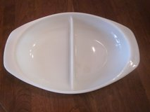 Rare Vintage Pyrex Double (Two) Compart 1-1/2 Qt Serving Dish in Plainfield, Illinois