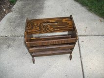 ANTIQUE MAGAZINE RACK VERY DEEP ALL WOOD in Orland Park, Illinois