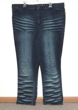 Womens Plus 24 Quizz New York High Waist Stretchy Whiskered Straight Jeans 24w in Joliet, Illinois