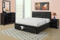 New! QUEEN BLACK Bed Frame + Storage FREE DELIVERY in Camp Pendleton, California