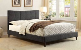 New! QUEEN or FULL Ennis GRAY Linen Padded Bed Frame FREE DELIVERY in Camp Pendleton, California
