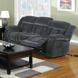New! St. Albans Gray Fabric Power-Assist Reclining Sofa in Camp Pendleton, California