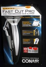 New! Conair Fast Cut Pro Lighted Clipper 18Pc Pro Haircutting Kit in Orland Park, Illinois