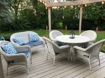 All Weather Wicker Patio Furniture Set. Includes Cushions in Glendale Heights, Illinois