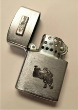 Vintage Carrib Japan Pocket Lighter Horse Saddle Albuquerque New Mexico in Aurora, Illinois