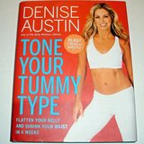 Tone Your Tummy Type by Denise Austin Fitness Exercise Routines Hardcover Book w Dust Jacket in Morris, Illinois
