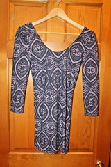 Free People Scoop Neck Bodycon Mini Dress, Long Sleeve, X-Small in Bolingbrook, Illinois