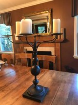 Large metal candelabra indoor-outdoor in Chicago, Illinois