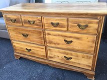 Distressed Style Six Drawer Lowboy Dresser - Delivery Available in Tacoma, Washington