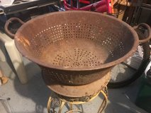 ANTIQUE GALVANIZED STEEL BOWL PLANTER in Oswego, Illinois