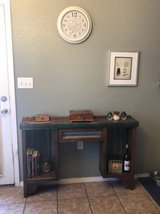 FANTASTIC and AMAZING accent table with drawer and metal backing in El Paso, Texas
