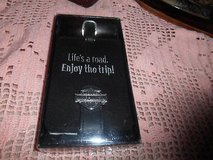 """New Black Leather HARLEY DAVIDSON """"Life's a Road...Enjoy the Trip"""" Luggage Tag! MINT in Kingwood, Texas"""