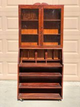 Vintage Curio Hutch / Cabinet on Wheels in Fairfield, California