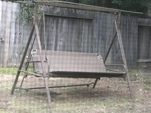 Outdoor patio yard swing rocker glider and bed in Kingwood, Texas