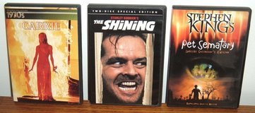 RARE Stephen King DVD Lot The Shining Carrie w Bonus 1970s Decade CD Collection Pet Sematary in Chicago, Illinois