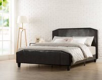 Zinus Faux Leather Platform Bed - Queen Size - New! in Bolingbrook, Illinois