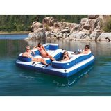 Intex Oasis Island Inflatable 5-Seater Lake/River Floating Lounge Raft in Aurora, Illinois