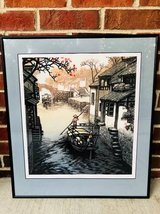 FRAMED CHINESE BOAT IN CANAL SCENE in Chicago, Illinois