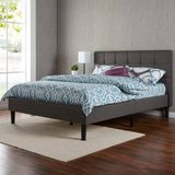 Zinus Upholstered Square Stitched Platform Bed - New!   Queen Size in Chicago, Illinois