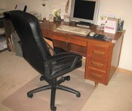 Vintage Wood Desk with Modern Chair in Chicago, Illinois