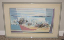 ART - Mary Ann Ginter Matted & Framed Lithograph Print - L.E. - Signed in Lockport, Illinois