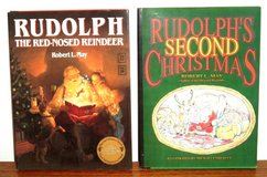 RARE Vintage 1990's Rudolph The Red Nose Reindeer & Rudolphs Second Christmas Hard Cover Books w... in Morris, Illinois