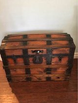 Dome Top Wooden Trunk in Camp Pendleton, California