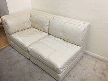2pc Ivory Leather Corner Two Seater in Joliet, Illinois
